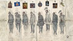 Aitor Throup and A. Fashion Design Sketchbook, Fashion Sketches, Fashion Illustrations, Illustration Fashion, Book Design Layout, Design Layouts, Amazing Drawings, Tecno, Conceptual Art