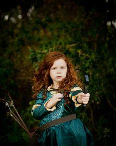 Disney Halloween Costume: Merida from Brave (Disney photo shoot by a professional photographer)