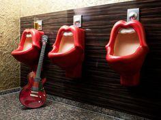 Men s lobby bathrooms  25hours Hotel, Germany - gotta love a good sense of humour.