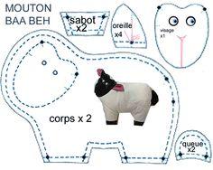 Doudou mouton - plein d'autres patrons frees sur ce lien