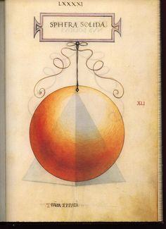 Geometric Figure: Sphera solida by Leonardo da Vinci (1496)