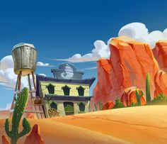 Pepper Panic Backgrounds on Behance Cartoon Background, Game Background, Animation Background, Environment Concept Art, Environment Design, Landscape Illustration, Illustration Art, Vector Illustrations, Bg Design