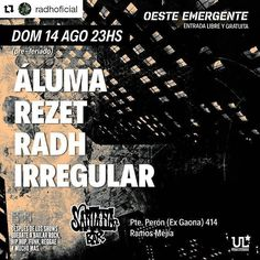 #Repost @radhoficial with @repostapp  @radhoficial por primera vez en el oeste de bs as más precisamente en Santana bar. Entrada gratis! #musica #argentina #recital #music #show #buenosaires #rock #música #bsas