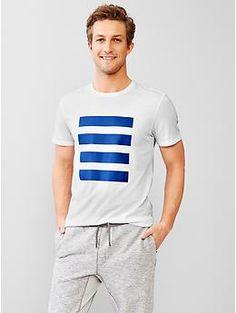 Urban Active stripe-panel t-shirt