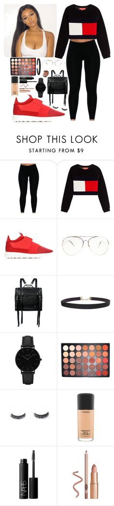 """Tommy boy 😈"" by aaliyahlee ❤ liked on Polyvore featuring Balenciaga, McQ by Alexander McQueen, Humble Chic, CLUSE, Morphe, MAC Cosmetics and NARS Cosmetics"