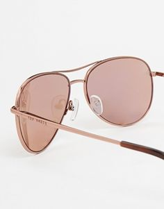Enlarge Ted Baker Carter Rose Gold Mirror Aviator Sunglasses