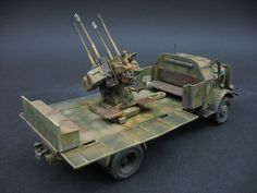 Luftwaffe, Military Diorama, Dieselpunk, Plastic Models, Scale Models, Military Vehicles, Diy And Crafts, German, Trucks