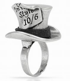 Disney Couture Alice Wonderland Mad Hatter Ring I kinda need this. Disney Couture Jewelry, Disney Jewelry, Disney Engagement Rings, Pandora Jewelry, Jewelry Rings, Disney Inspired Outfits, Disney Merchandise, Sea Glass Jewelry, Diamond Are A Girls Best Friend
