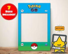 DIY Pokemon Go Party Photo Booth Prop Frame, Instant Digital Download, Pokemon Party, Pokemon Gifts by Framesta on Etsy https://www.etsy.com/listing/471616725/diy-pokemon-go-party-photo-booth-prop