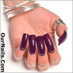 """My nails polished in OPI """"Skating On Thin Iceland!"""" It's such a pretty color,… Long French Nails, Long Red Nails, Long Fingernails, Burgundy Nails, Sexy Nails, Trendy Nails, Toe Nails, Gorgeous Nails, Perfect Nails"""