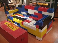 Lego are and will be the most popular toys for the kids. There is no person in the world that doesn't like lego toys. Lego is a popular line of Lego Furniture, Unique Furniture, Furniture Making, Furniture Design, Furniture Ideas, Furniture Stores, Lego Creator, Deco Lego, Dog Accessories