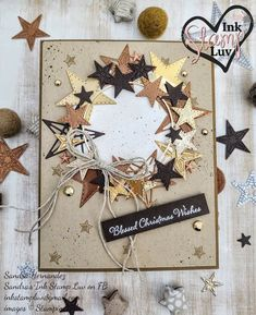 Stampin Up Christmas, Christmas Wishes, Christmas Wreaths, Christmas Crafts, Winter Cards, Holiday Cards, Star Cards, Stampin Up Catalog, Christmas Catalogs