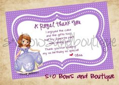 20 Best Princess Thank You Images On Pinterest Birthday Party
