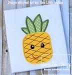 Pineapple Appliqué Embroidery Design
