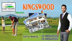 Amrapali Kingswood is a splendid residential Apartment venture launched by Amrapali Developer in sector 4 Noida extension. Amrapali group offers 2BHK (835-945) sq ft and 3BHK (1115) sq ft apartments. Taking your comfort and convenience to a whole new level, the designer interiors are splashed with novel concepts making your lifestyle lavish.