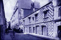 Casa dos Bicos qd ainda tinha uma rua