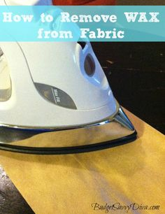 How to Remove Hardened Wax from Fabric
