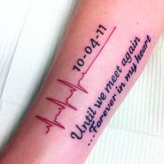 Love this heartbeat tattoos, heartbeat tattoo with name, memorial tattoos g Tattoo Oma, Get A Tattoo, Tattoo Neck, Sleeve Tattoos, Tattoo For Man, Ekg Tattoo, Spine Tattoos, Tattoo Thigh, Snake Tattoo