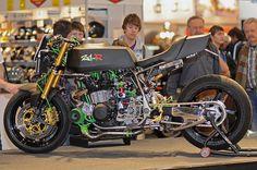Kawasaki Z1R Turbo by Green Light #Kawasaki