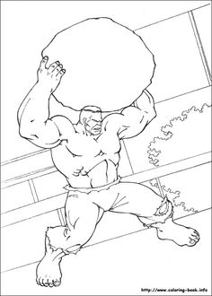 Coloriage Dessins Hulk 17
