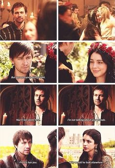 Reign..Bash is suck a hopeless romantic! I don't know who to chose..Team Bash or Team Francis?!