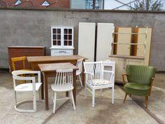 WARENEINGANG! Viele praktische Schränke! Outdoor Chairs, Outdoor Furniture Sets, Outdoor Decor, Retro, Design, Home Decor, Door Entry, Closet, Decoration Home