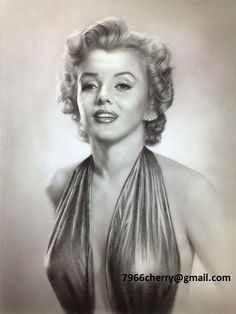 Marilyn Monroe painting by Cherry7966  / This image first pinned to Marilyn Monroe art board here: http://pinterest.com/fairbanksgrafix/marilyn-monroe-art/ #Art #MarilynMonroe