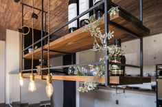 Kitchen Chandelier: See How to Choose Apart from Amazing Inspirations - Home Fashion Trend Loft Kitchen, Home Decor Kitchen, Kitchen Furniture, Kitchen Interior, Interior Design Living Room, Home Kitchens, Kitchen Bar Design, Industrial Kitchen Design, Küchen Design