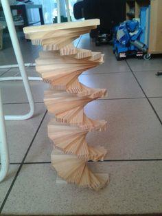 Kapla: wenteltrap Wooden Building Blocks, Wooden Blocks, Popsicle Art, Wood Block Crafts, Block Play, Wood Planks, Pattern Blocks, Activities, Building Ideas