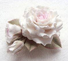 Polymer Clay Flower - beautiful!