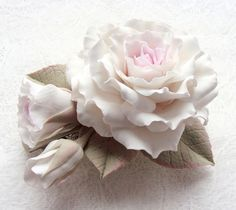 Polymer Clay Flower - beautiful!