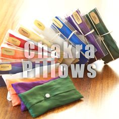 The scents and colors of Gurutej's Chakra Pillows are selected to balance specific Chakras.