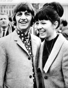 Ringo and Maureen on their honeymoon, February 1965.