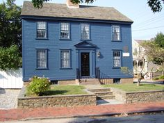 Newport, Rhode Island. Note the vibrant blue, true to historical hues.