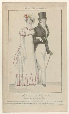 Observateur des Modes, 1818, No. 3 : Toque de gaze..., anoniem, 1818