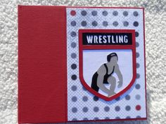 This is a 6x6 inch chipboard wrestling scrapbook album. This album has 14 pages and has mats for 15 pictures. The sturdy pages and machine sewn