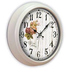 Çiçek Dekoratif Eskitme Duvar Saati, Çiçek Dekoratif Eskitme Duvar Saati Ürün Bilgisi ;Ürün maddesi : Gövdesi : Plastik gövde, gerçek cam Ebat : 40 cm Mekanizması : Akar saniye, sess