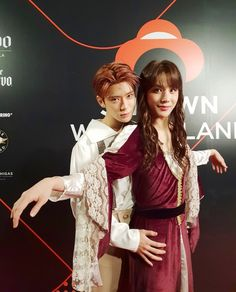 Jaehyun and Jungwoo from NCT 127 as Jack and Rose from Titanic, SM Halloween party Jaehyun Nct, Winwin, Taeyong, Nct 127, Nct Johnny, Shinee, Halloween Party, Halloween Costumes, Halloween 2018