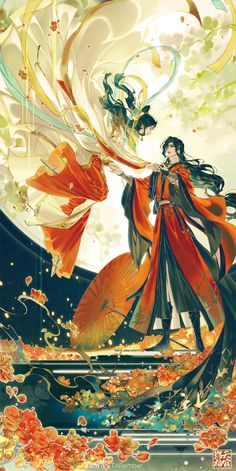 Susanoo, Anime Lindo, Anime Love Couple, Fan Art, Chinese Art, Chinese Painting, Painting Art, Geisha, Japanese Art