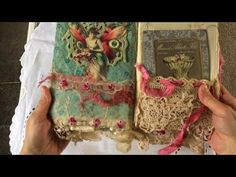 The most amazing fabric and lace journal - YouTube
