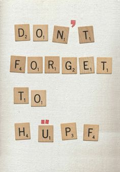 Don't forget to hüpf