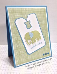 Zoo Babies Inks: Marina Mist, Pear Pizzazz Papers: Marina Mist, Pear Pizzazz, Gingham Garden Designer Series Paper Accessories: Chalk Talk Framelits, Candy Dots (Subtles), Stampin' Dimensionals