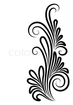 Stock vector of 'corner, old, flourishes'