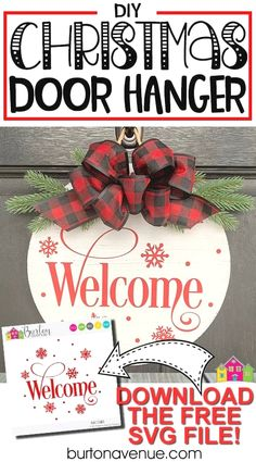 Welcome to Day 21 of my 25 days of Craftmas series! Today, I'm showing you how to make this Christmas door hanger with your Cricut or Silhouette. This door hanger is easy to make and is a fun way to dress up your door for the holiday season. I used a pretty welcome saying for … Read more... #diychristmas