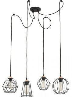 273 Sklep z lampami - GALAXY 4 zwis 1646 TK Lighting
