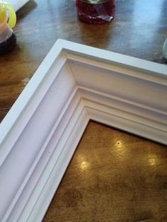 how to build a frame from crown molding