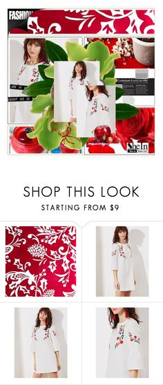 """""""WHITE EMBROIDERED DRESS"""" by margarita1107 ❤ liked on Polyvore"""