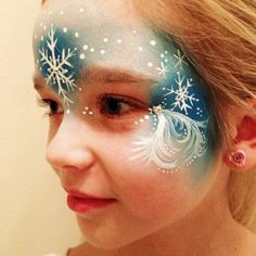 2015 Snowflake Halloween Frozen face paint for girls - forehead - LoveItSoMuch.com