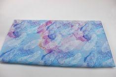 Tkanina wodoodporna - piórka błękit