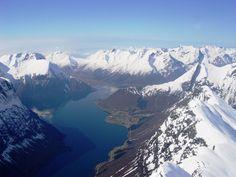 sunnmore alps | The Hjørundfjorden from mt. Slogen